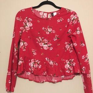 H&M floral blouse sz. 2 ✨